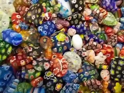 Millefiori Glass Beads New Batch of Mosaic Rainbow Mix at eCrafty.com SKU 1604 Just In! Nov 12