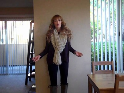 OOTD: Oversized Knit Scarf & Tall Boots (10.26.11)