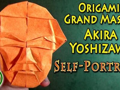 Origami Grand Master Akira Yoshizawa's Self-Portrait (with music)