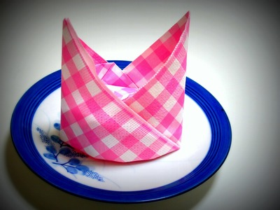 Origami - How to fold a table NAPKIN (for special events)