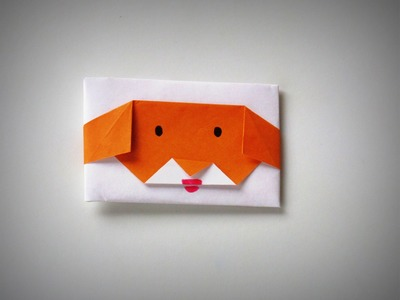 Origami - How to make a Puppy-Shaped ENVELOPE