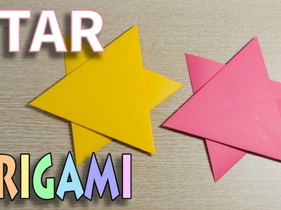 Origami Star - How to Make a paper folding Star (Tutorial)