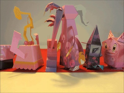 Papercraft - paper monsters: A horrible breakfast and other monstrous affairs.  - dutchpapergirl