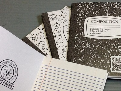 Print Your Own Origami Composition Notebook