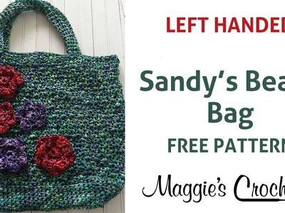 Raffia Beach Bag Free Crochet Pattern - Left Handed