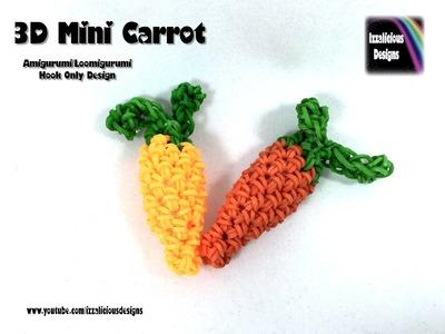 Rainbow Loom 3D Mini Carrot (Easter Bunny's) Amigurumi.Loomigurumi Crochet Hook Only (Loomless)