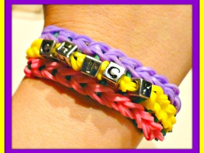 Rainbow Loom - Personalized bracelet with letter beads by 2 Lite Chicks