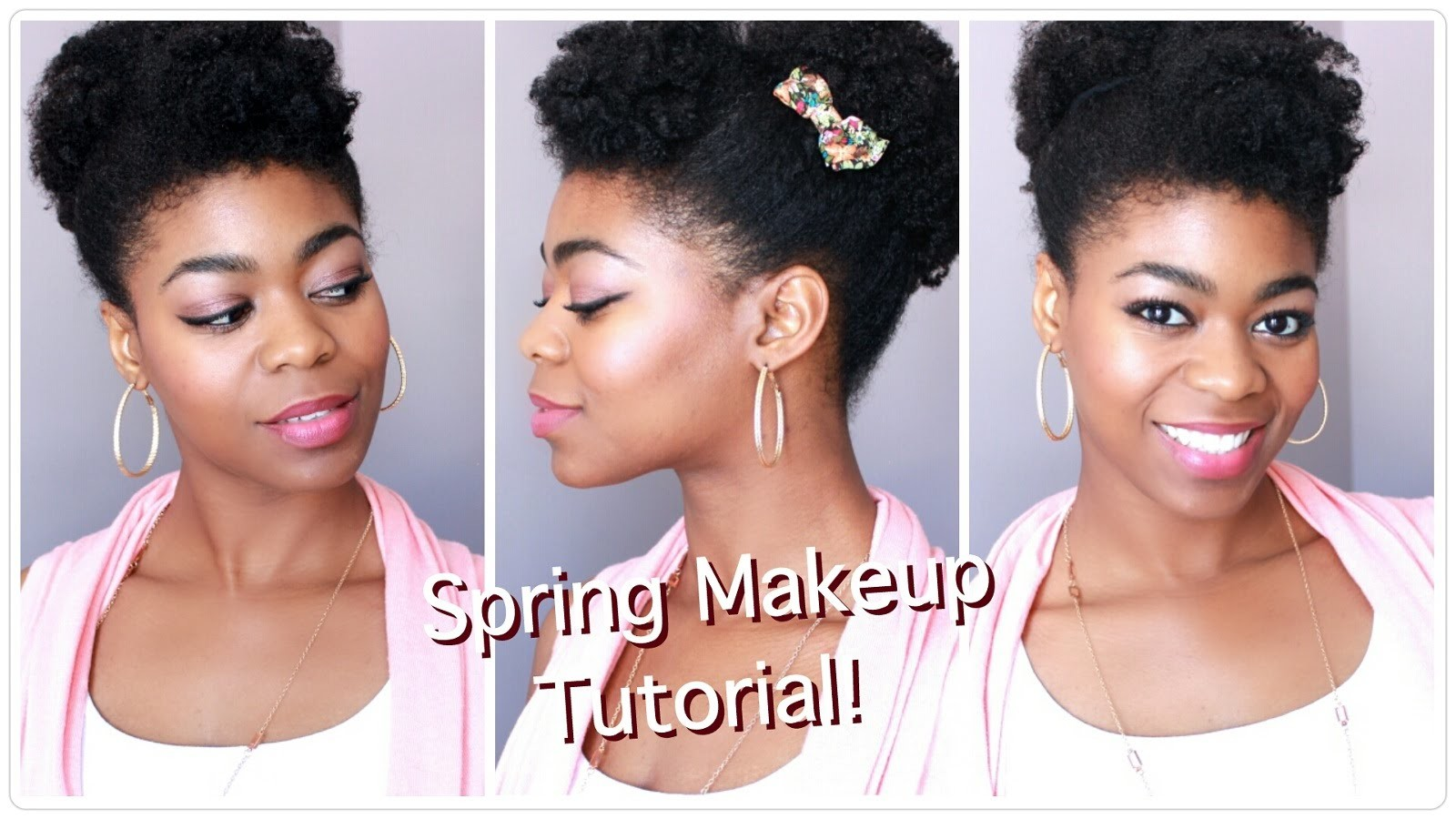 Spring Makeup Tutorial - 2015 Vlogger Easter Collab! - Makeup For Beginners - 4C Natural Hair