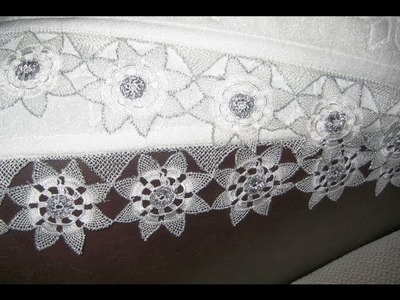 (2) Towel Lace Crochet Edge Patterns Models Designs New Trends