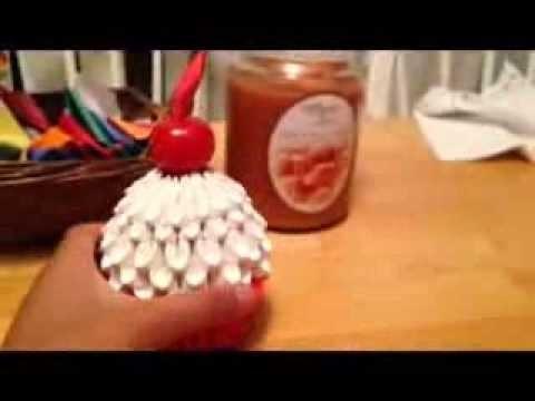 3d Origami Cupcake Part 2