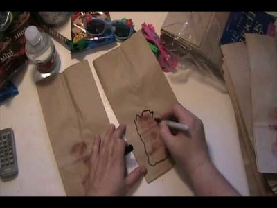 Craft Junkie Too Video #24 = Cowboy Birthday Goodie Treat Bags