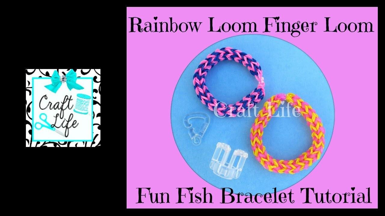 Craft Life Finger Loom Rainbow Loom Review ~ Fun Fish Bracelet Tutorial