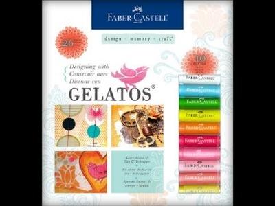 Craving Gelatos? Negative Stenciling Tutorial using Faber-Castell Gelatos + Process Video