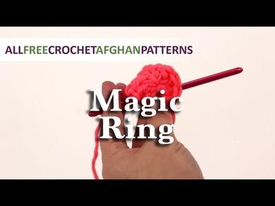 Crochet Magic Ring.Adjustable Ring Tutorial