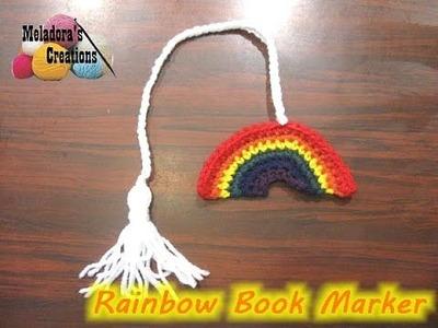 Crochet Rainbow Book Marker *plus* How to make a Tassel