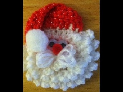 Crochet santa face.head ornament tutorial