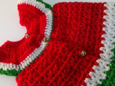 Crochet  Water Melon Baby Dress-3