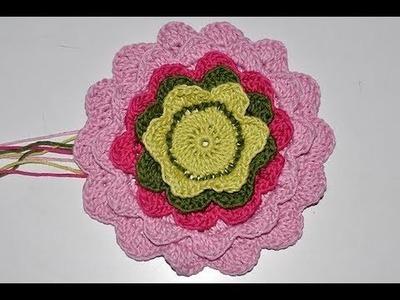 Crochet with eliZZZa * Pretty Petals Potholder