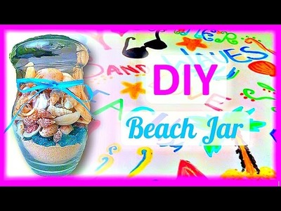 DIY Beach Mason Jar :: 2CupsofDelight