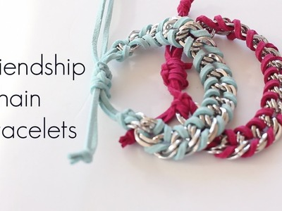 DIY Chain Friendship Wrap Stacked Bracelets EASY How To MAKE