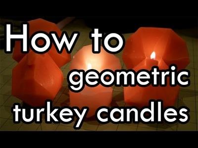 DIY: Geometric Turkey Candles