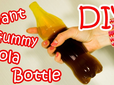 DIY Giant Gummy Cola Bottle - How To Make Giant Gummy Coca-Cola Bottle At Home (Recipe)