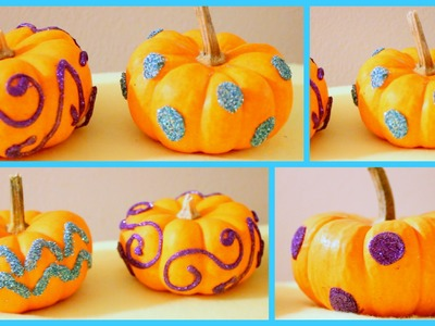 DIY: Halloween Room Decor Glitzy Pumpkins!
