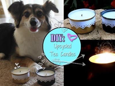 DIY: Lace Trimmed Tea Candles Using Recycled Tin Cans