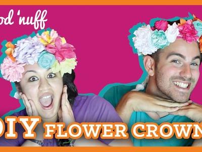 DIY Paper Flower Crowns (#GoodNuff)