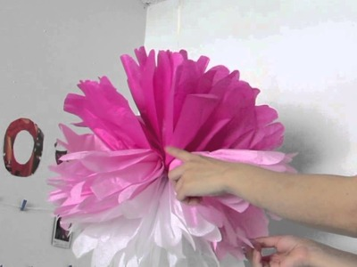 DIY: Party. Room Decor Using Wrapping Tissue