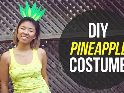 ✂ DIY Pineapple Halloween Costume