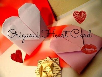 Diy-Tutorial:How To Make Origami Heart Card Enevlopes