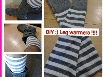 DIY:UPCYCLED SWEATER !!!  DIY Leg warmers and DIY Infinity Scarf :)
