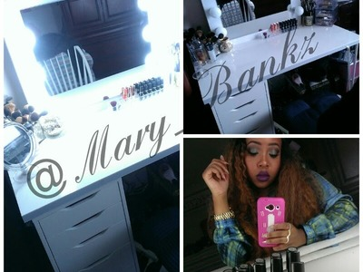 DIY Vanity Mirror Hollywood Girl Inspired