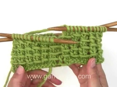 DROPS Knitting Tutorial: How to work a bamboo pattern