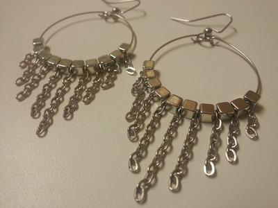 Easy, Cute and Fun DIY Dangle Chain Memory Wire Earrings