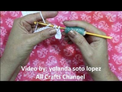 Easy to crochet Cross Bookmarker