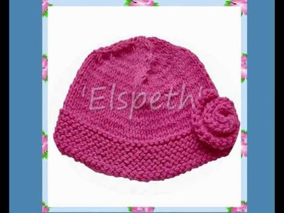 Elspeth Girls Ladies One Size Rose Pink Beanie Chunky Yarn Hat Knitting Pattern