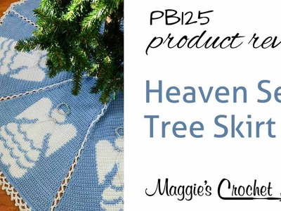 Heaven Sent Tree Skirt Crochet Pattern Product Review PB125