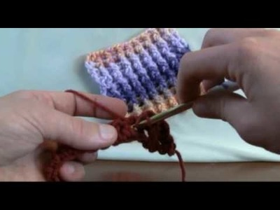 How To Crochet Single Rib Stitch - RH