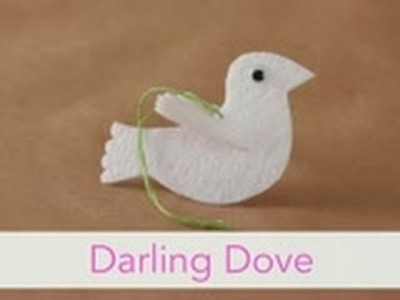How to Make a Darling Dove Ornament - Christmas Craft