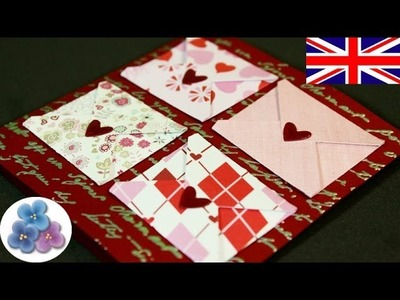 How to Make Love Cards DIY Valentines Day Card for Valentine's Day Papercraft Greeting Cards Mathie