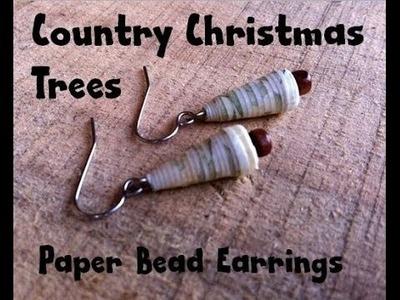 How to Make Paper Bead Christmas Tree Earrings
