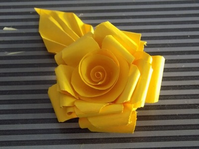 How to make paper roses tutorial-DIY New 2015( Ppaer Roses)