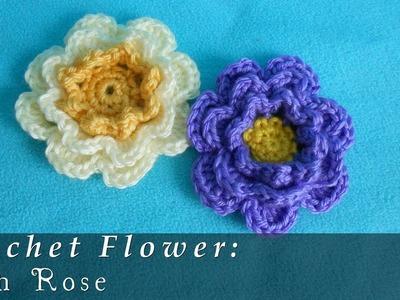 Irish Rose | Crochet Flower { Intermediate }