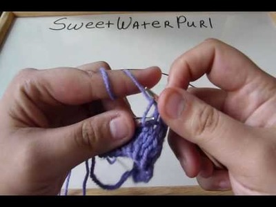 Knitting: Continental Method: Knitted Bind Off