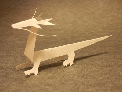 Let's make a dragon of KiriOrigami paper craft