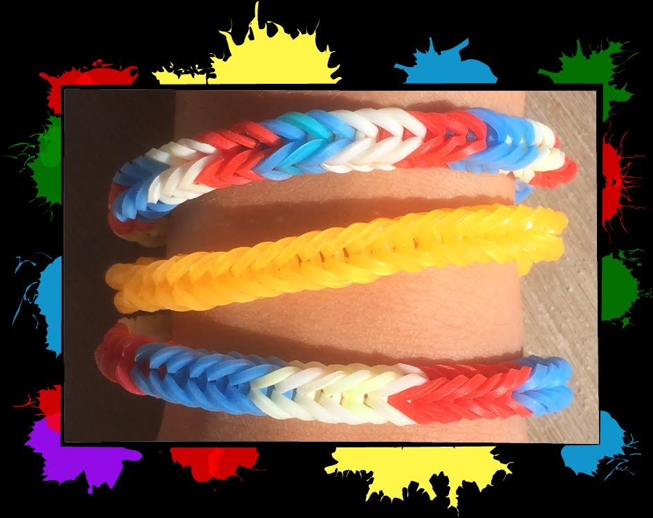 Level 1 video 5: Learn how to make an easy thick Loom bracelet with Loom bands and a fork