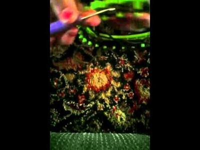 Loom Knit Blanket Using Circular Loom.How To.Easy