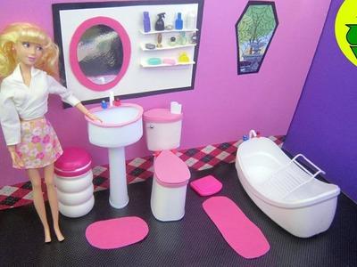Make a Doll Bathroom Sink - Doll Crafts